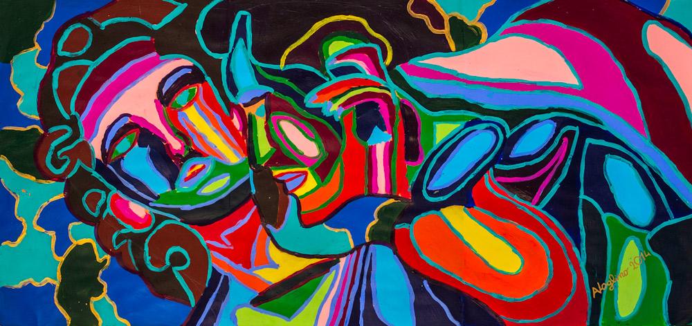 Artista contemporaneo pittura astratta affordable | People P06