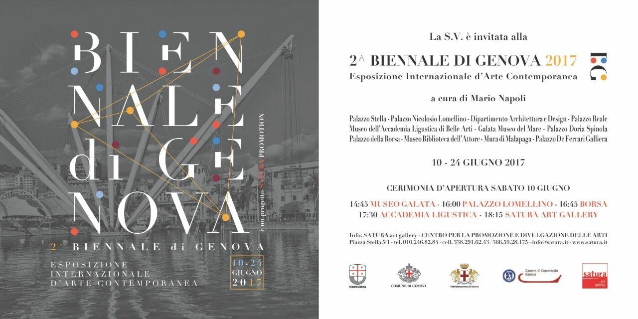 II Biennale Genova 2017 invito