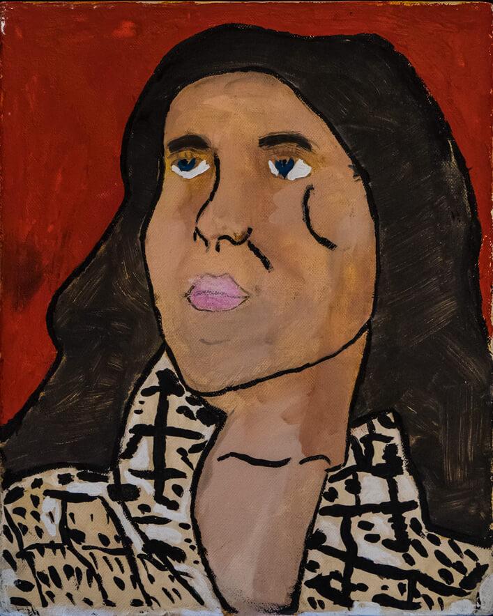 Artista contemporaneo pittura astratta affordable | People P02