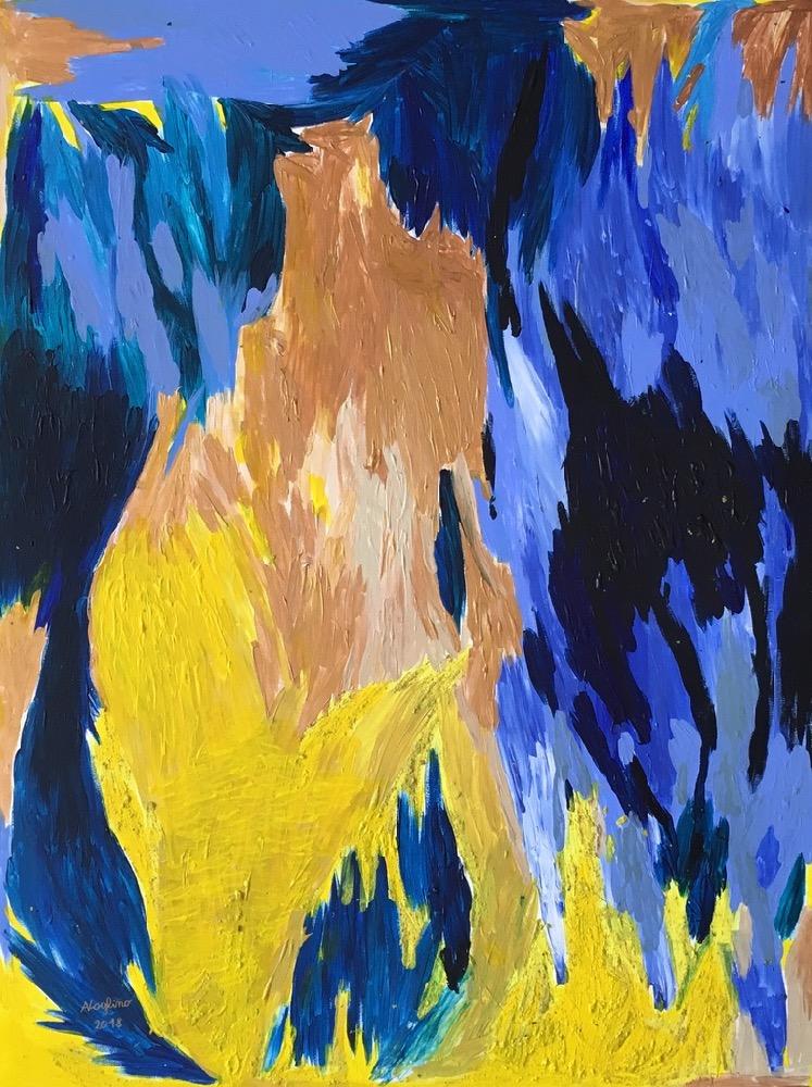 Artista contemporaneo pittura astratta affordable   Energie E13