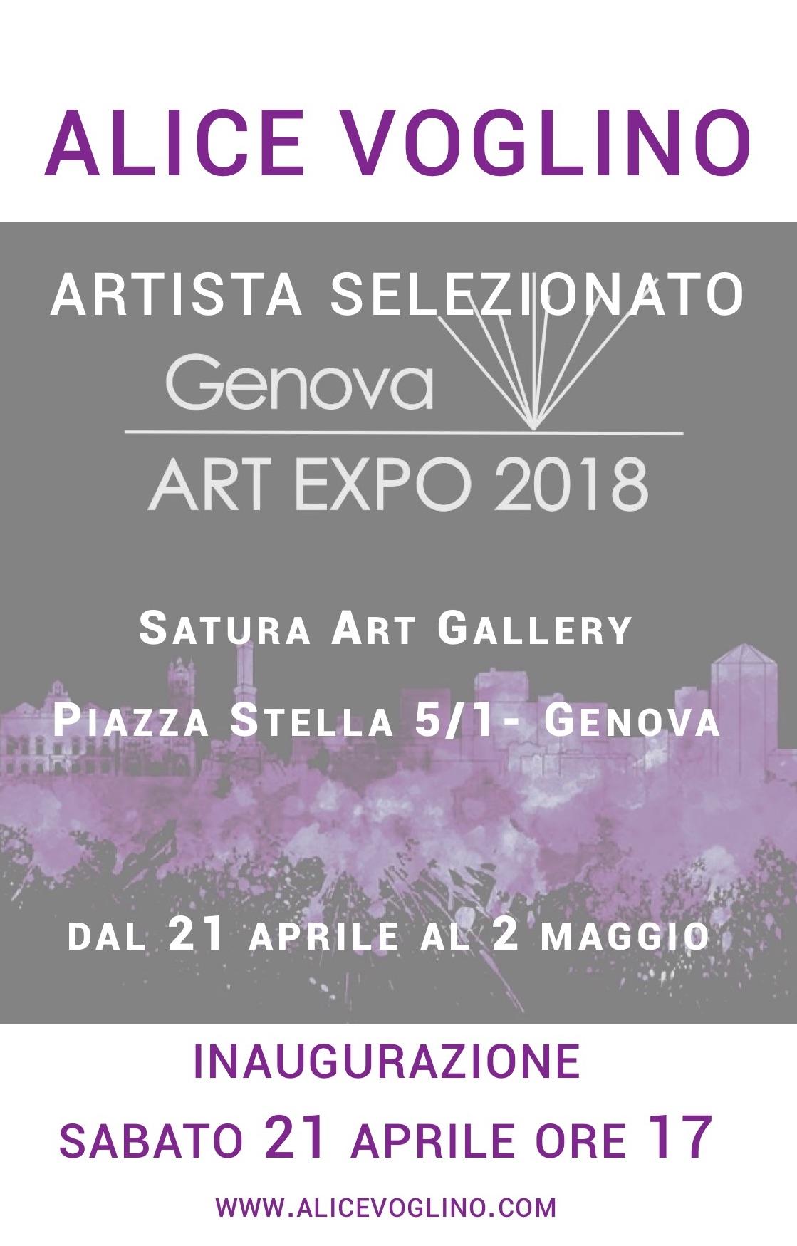 Alice Voglino_GenovaArtExpo2018_invito