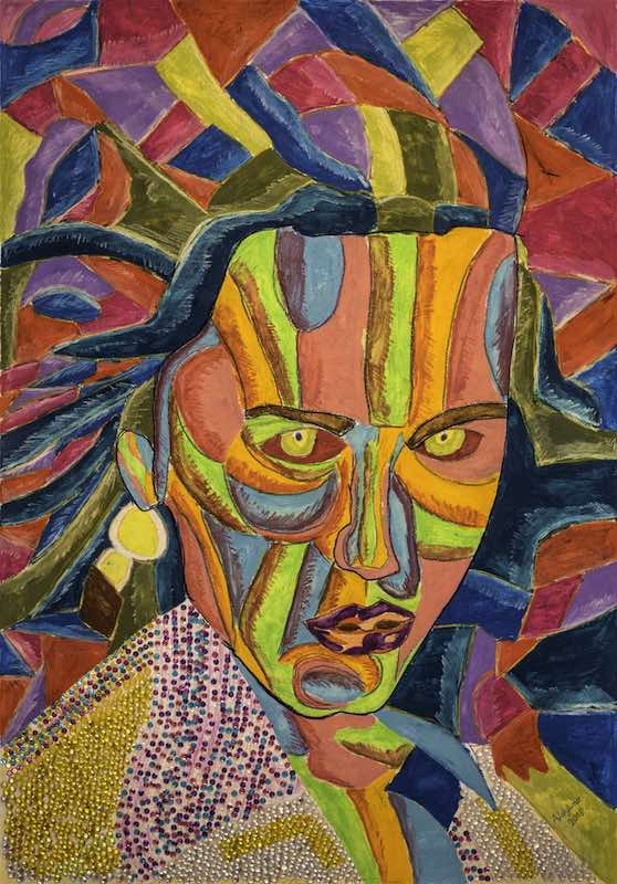 Artista contemporaneo pittura astratta affordable | People P01