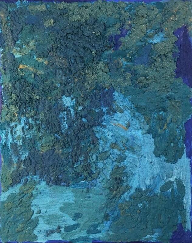 Alice Voglino_Bagnasciuga_2019_acrilici sabbia su tela_cm76x61_in30x24