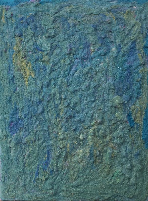 Alice Voglino_Senza titolo blu_2019_acrilici sabbia su tela_cm40x30_in16x12