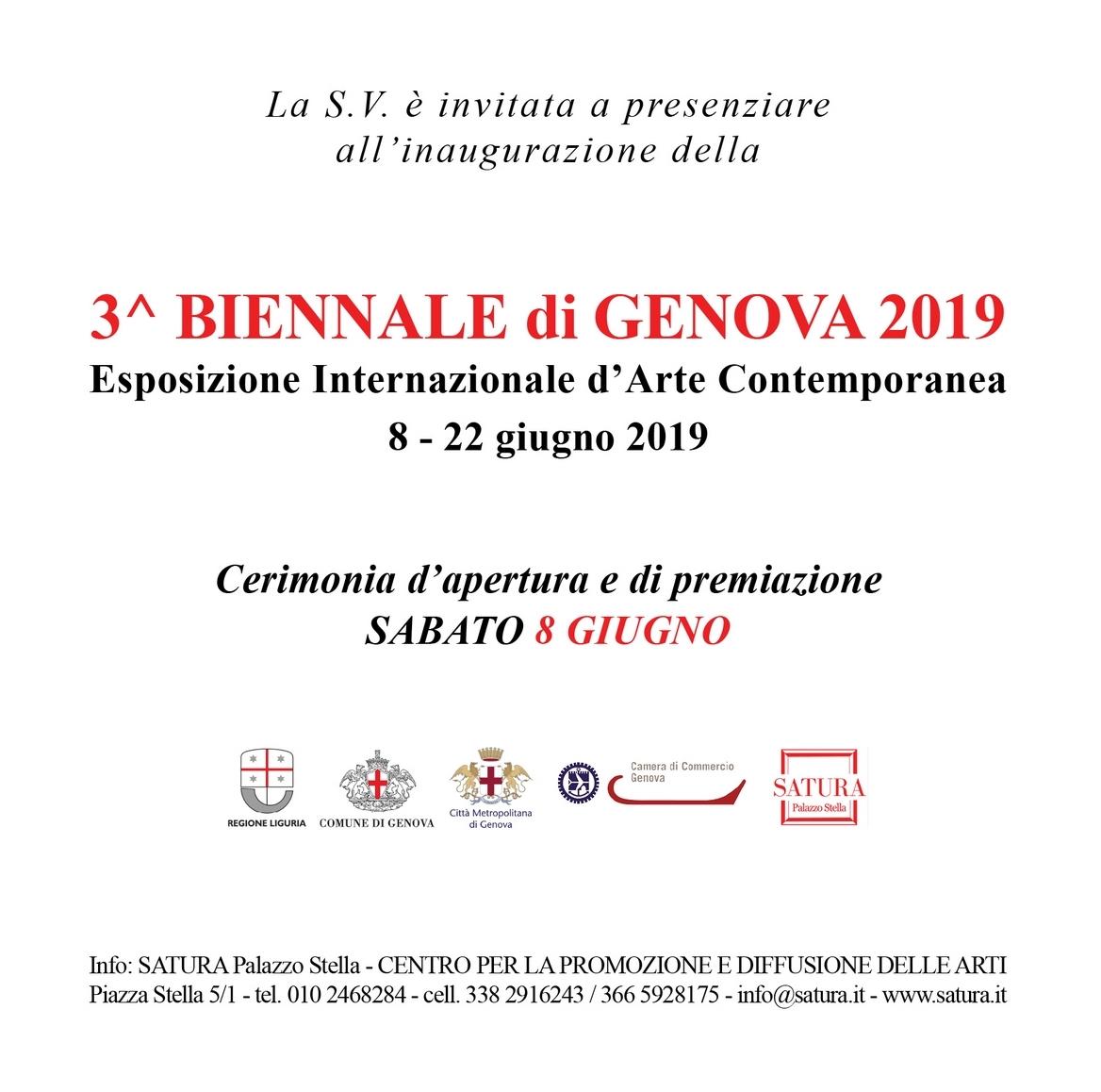 Alice Voglino Invito 3^ Biennale di Genova