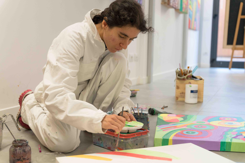 Alice Voglino dipinge atelier arte contemporanea 2019 -4