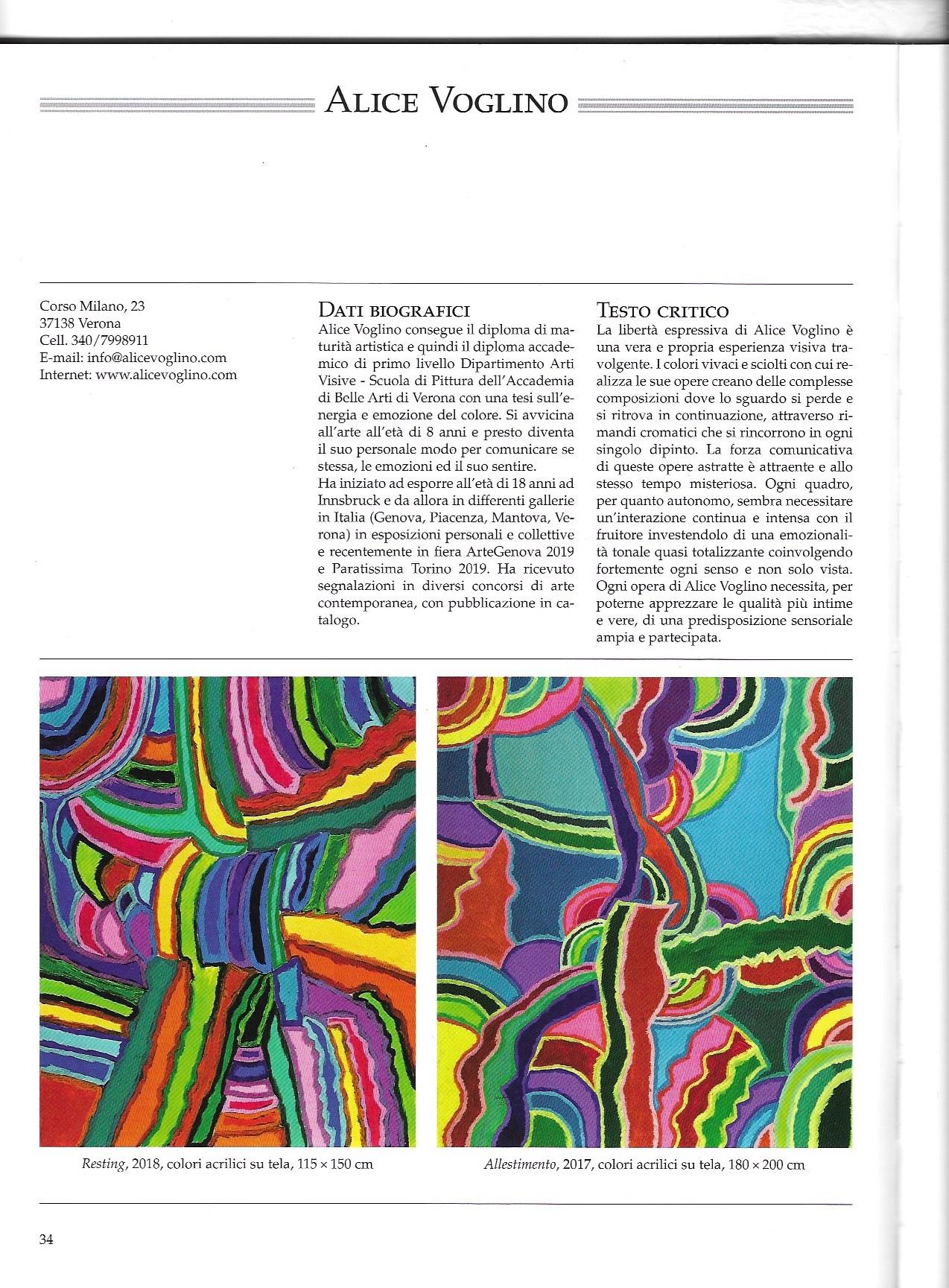 Alice Voglino_ catalogo arte contemporanea pubblicazione cairo pag 34