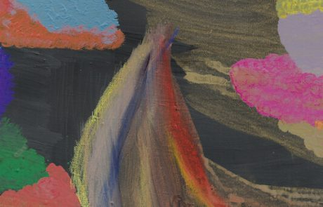 Colored smoke on black 2020 Acrilici su tela cm 140x95