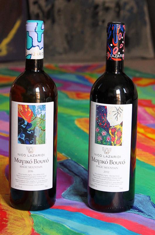 Alice Voglino_ Nico Lazaridi Winery etichette Magic Mountain - Portfolio Aziende Collaborazioni AC02
