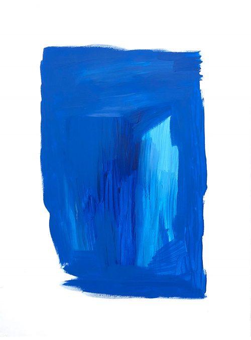 Alice Voglino Oceano pacifico 2020 colori acrilici cere acquarellabili su carta cm 48x36