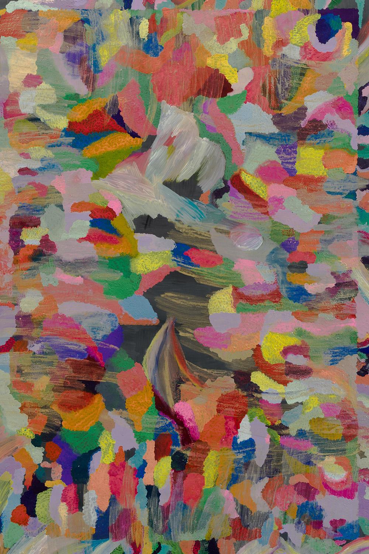 Alice Voglino artista contemporaneo pittura astratta affordable - Art Colored smoke on black 2020 - acrilici su tela cm140x95