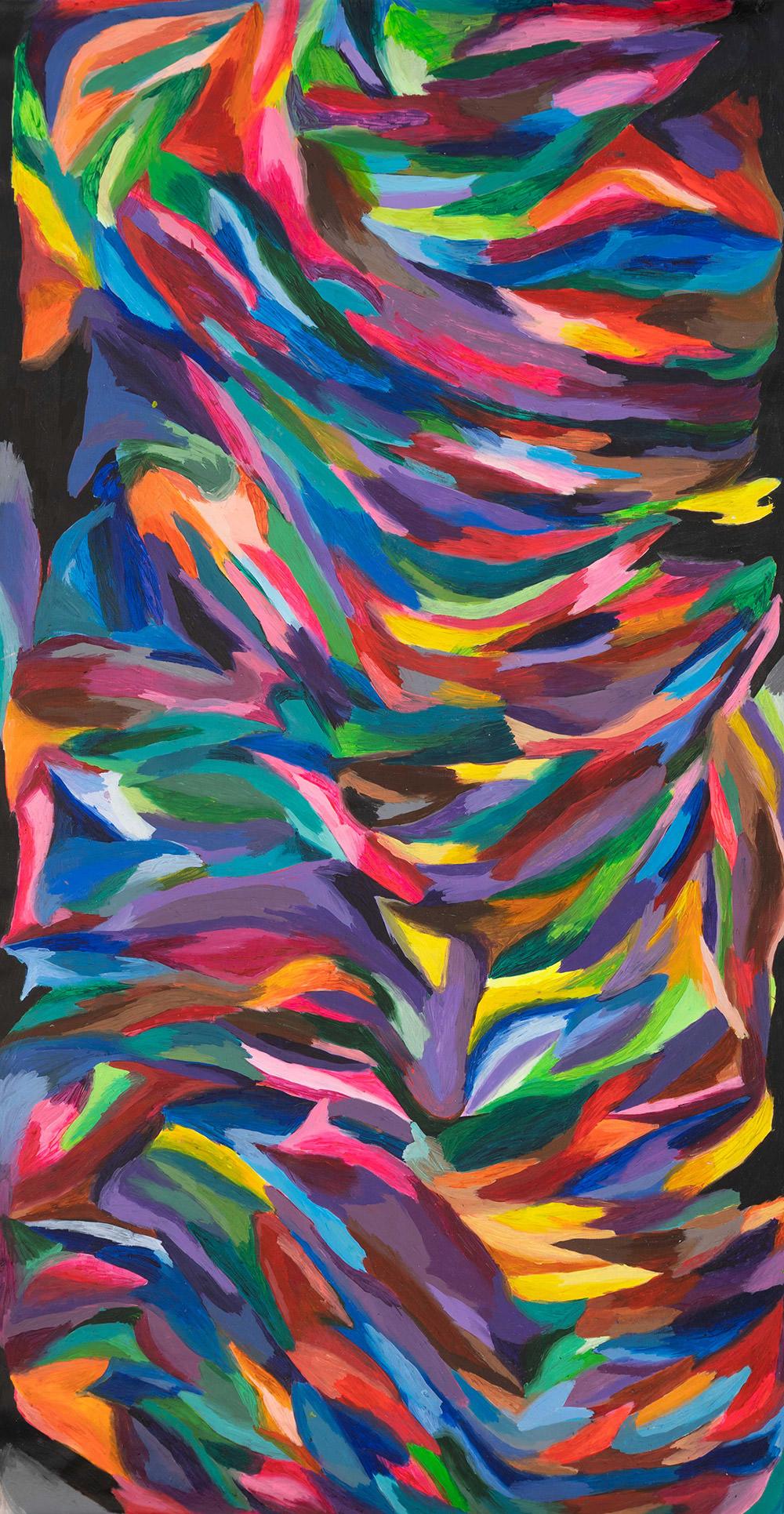 Linee in equilibrio 2020 - Colori acrilici su tela cm 215x108 (al vivo)