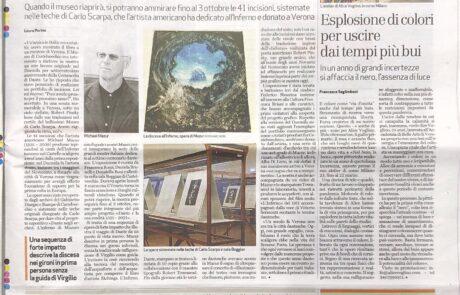 Alice Voglino_artista contemporaneo articolo quotidiano L'Arena , pagina cultura del 06.03.2021